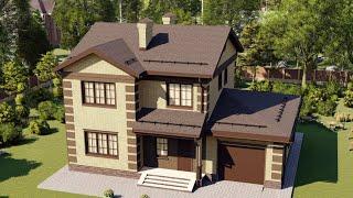 Проект дома 148-D, Площадь дома: 148 м2, Размер дома:  13,6x10,1 м