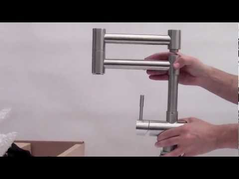 Video for Solid Brushed Stainless Steel Retractable Single Hole Kitchen Faucet
