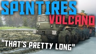"SpinTires Multiplayer Volcano ""That's Pretty Long"" Ft. Tc9700 & AR12 #1"