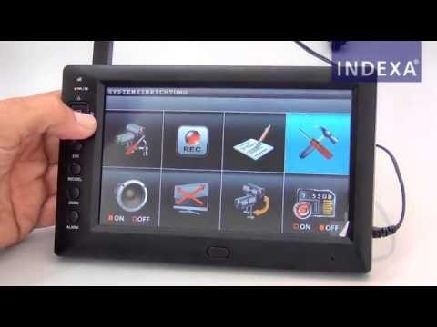 INDEXA DF270 Set Überwachungskamera mit Monitor