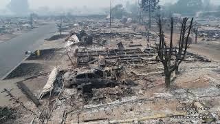 Жуткие кадры: лесной пожар в Калифорнии сняли с дрона