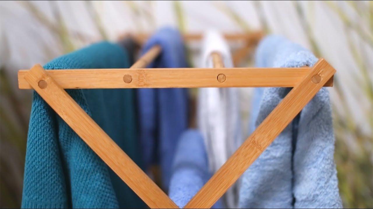 Video von: Handtuchhalter Bambus faltbar