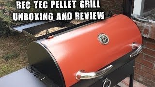 REC TEC Pellet Grill Unboxing and Review