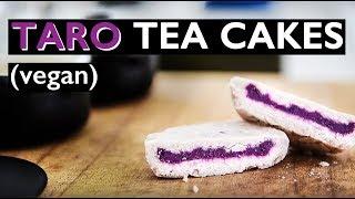 VEGAN TEA CAKE RECIPE   CHINESE NEW YEAR PURPLE TARO DESSERT!