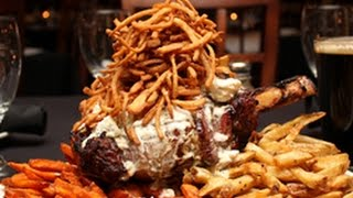 "The GIANT 40 oz ""Bone in the Stone"" Steak! (Featured on Man vs. Food)"