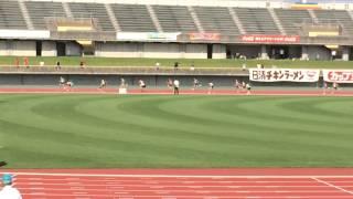 2015富山県小学生陸上大会4×100mリレー決勝