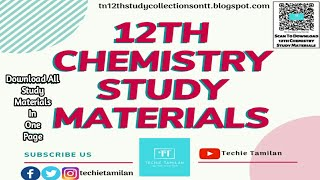 12th Chemistry All Study Materials | 2019 To 2020 - Download this Video in MP3, M4A, WEBM, MP4, 3GP