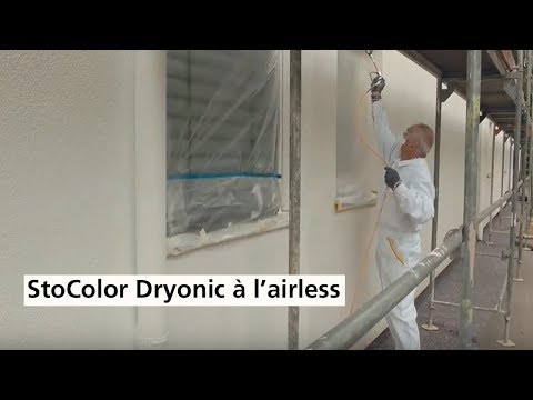 Application à l'airless de peinture de façade StoColor Dryonic