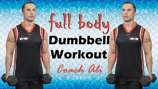 Full Body Workout With Dumbbells   Full Body Dumbbell Workout With Coach Ali