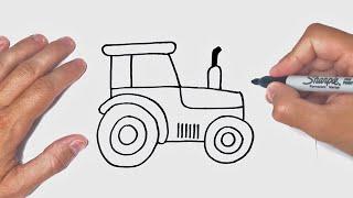 איך לצייר טרקטור