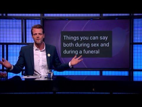 Dingen die je kunt zeggen tijdens seks én een begrafenis - RTL LATE NIGHT