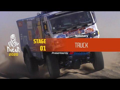【ダカールラリーハイライト動画】ステージ1 トラック部門のハイライト