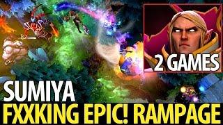 Sumiya [Invoker] Fxxking Epic Combo! Rampage► 2 Games- Dota2 7.05
