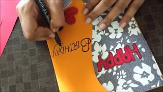 Beautiful Handmade Birthday Greeting  card idea for wife | Beautiful Birthday Card idea