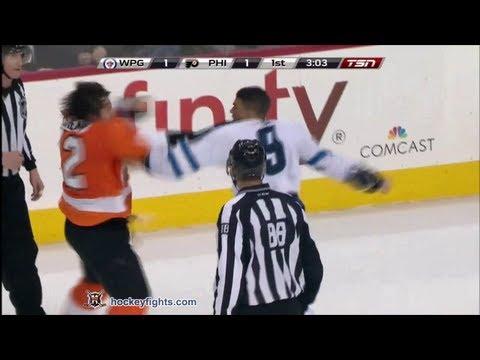 Evander Kane vs Luke Schenn