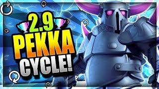 INSANE 2.9 SUPER FAST CYCLE PEKKA DECK!! Destroy the Meta! Clash Royale Pekka Deck 2018
