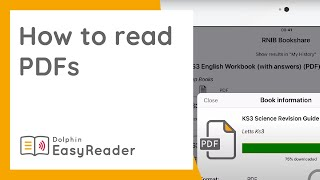 How to read PDFs with EasyReader (with & without VoiceOver)