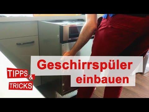 Geschirrspüler einbauen | Spülmaschine installieren