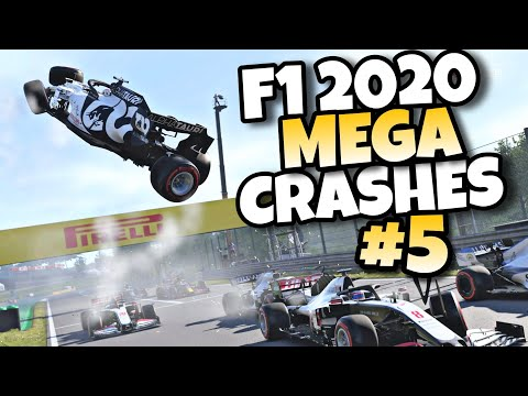 F1 2020 MEGA CRASHES #5
