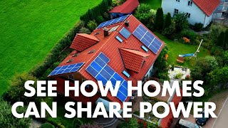 How can homes share solar power?   Electricity