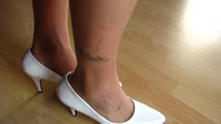 White Patent Pumps And Nylons - Shoeplay