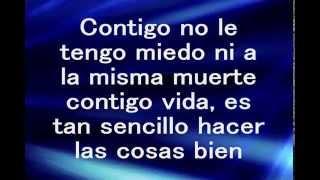 Contigo -Letra- Calibre 50