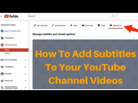 How to Add Subtitles to your YouTube Videos