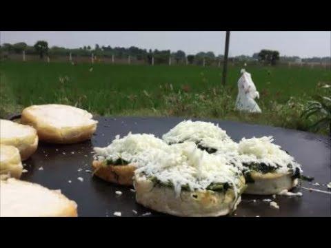 Farm Fresh Spinach Burger - Farm Fresh Siru Keerai Burger - Burger from Heaven