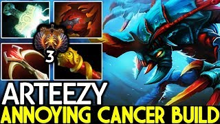 Arteezy [Weaver] Annoying opponents with Cancer Build Pro Gameplay 7.21 Dota 2
