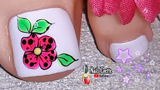 Nails Ivette 3 Diseño De Uñas Mariposa Paso A Paso Pie