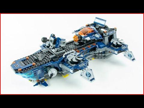 Vidéo LEGO Marvel 76153 : L'héliporteur des Avengers