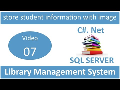 store student information with image in library management system