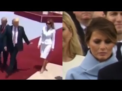 Melania Trump's HAND SLAP And More AWKWARD MOMENTS With Donald Trump | What's Trending Now!