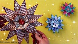 Estrellas para Navidad, Adornos para en Árbol de Navidad, Decoración Navideña