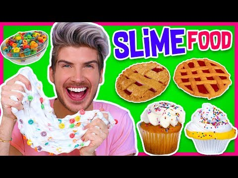Making FOOD Out Of SLIME! | Froot Loops, Cupcakes, Pie & MORE!