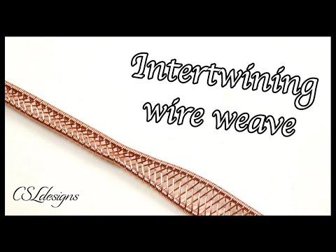 Intertwining wire weave ⎮ Wire weaving series