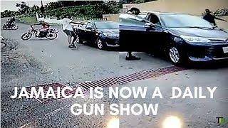 Brazen DAYLIGHT Gvn ATTACK, caught on CCTV - Teach Dem