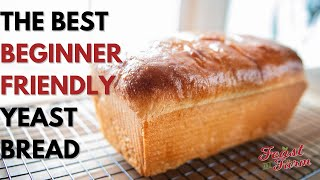 How to make a loaf of bread from scratch (Beginner friendly!)