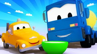 Odtahové auto pro děti - Míchač na beton Kryštof si přehřeje motor