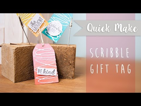How to Create Scribble Gift Tags - Sizzix