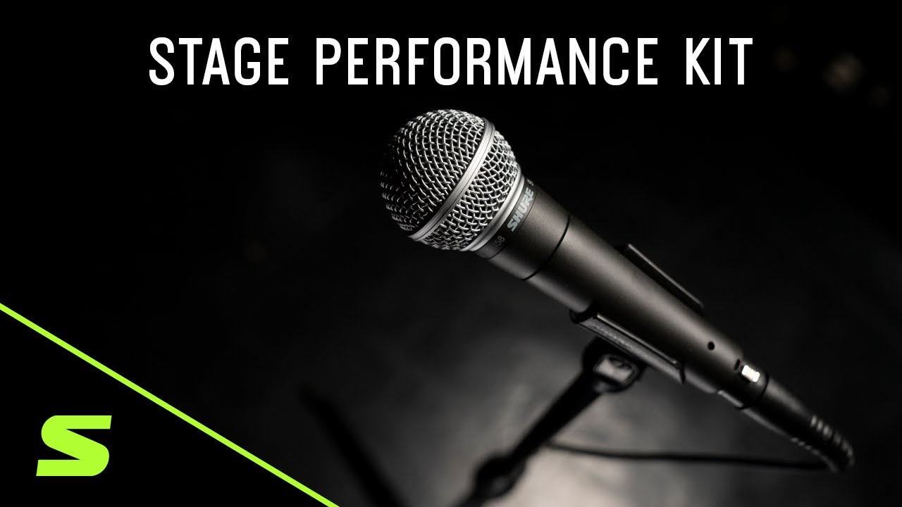 Shure Stage Performance Kit: SM58 + XLR Cable + Mic Stand