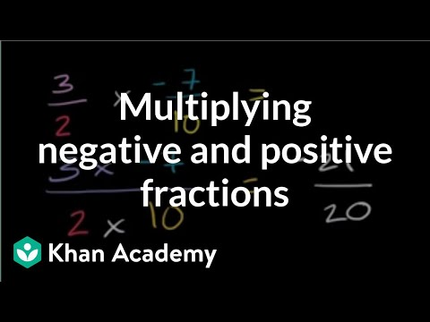 Multiplying positive and negative fractions (video) | Khan ...