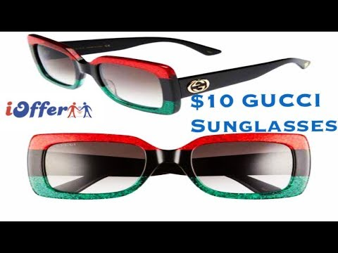 iOFFER – $10 GUCCI Sunglasses UNBOXING Review