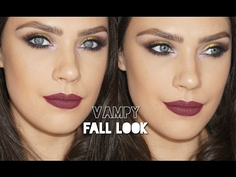 Vampy Fall LookPurple Smokey EyeCarol Lago