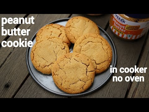 peanut butter cookies recipe in pressure cooker | no oven eggless peanut butter biscuits
