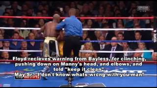 Mayweather Pacquiao Review Round 7 Controversy Pac schools Floyd