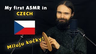 My first ASMR video in Czech (Šeptání, Česky, a few triggers)