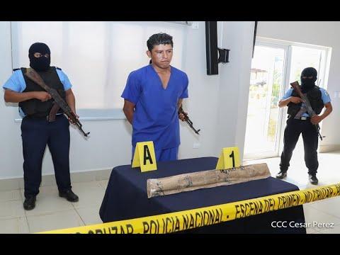 Policía Nacional presenta a sujeto señalado de matar a una mujer y su hijo en Siuna