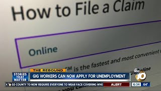 Gig workers in California can apply for unemployment