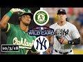 Oakland Athletics vs New York Yankees Highlights AL Wild Card Game October 3 2018